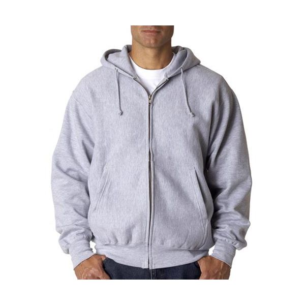 7711 Weatherproof Adult Cross Weave® Full-Zip Hooded Blend Sweatshirt  - 7711-Heather (80/20)