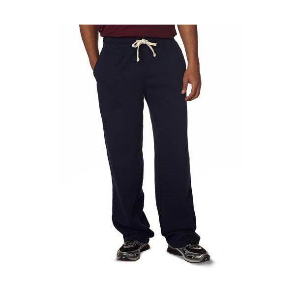 7766 Weatherproof Adult Cross Weave® Open-Bottom Blend Sweatpants  - 7766-Navy
