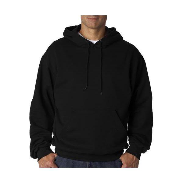 82130 Fruit of the Loom Adult SupercottonTM Hooded Sweatshirt  - 82130-Black
