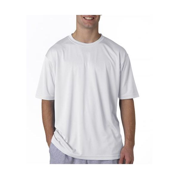 8400 UltraClub® Men's Cool & Dry Sport Mesh Performance Tee  - 8400-White