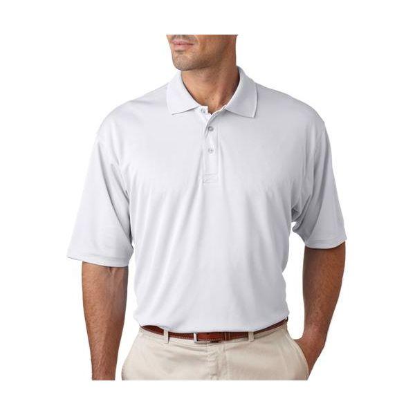 8405 UltraClub® Men's Cool & Dry Sport Mesh Performance Polo  - 8405-White