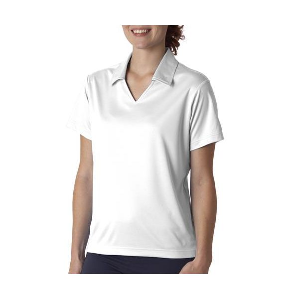 8407 UltraClub® Ladies' Cool & Dry Sport Mesh Performance Pullover  - 8407-White