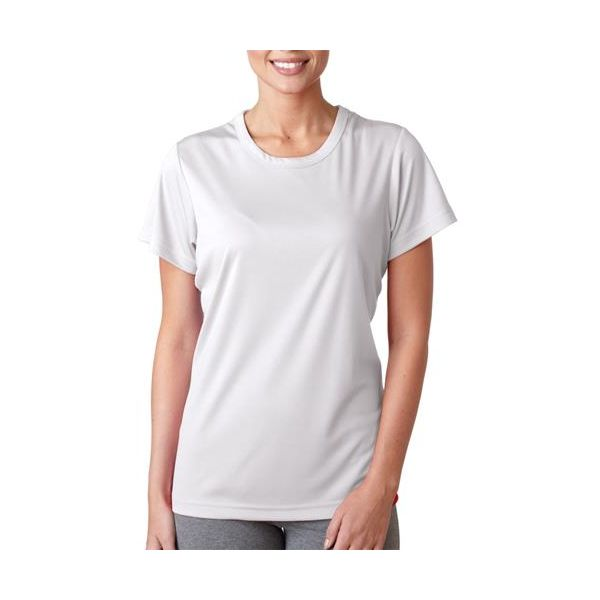 8420L UltraClub® Ladies' Cool & Dry Sport Performance Interlock Tee  - 8420L-White