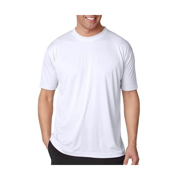8420 UltraClub® Men's Cool & Dry Sport Performance Interlock Tee  - 8420-White
