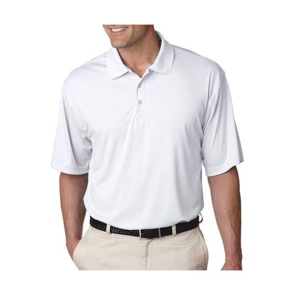 8425 UltraClub® Men's Cool & Dry Sport Performance Interlock Polo  - 8425-White