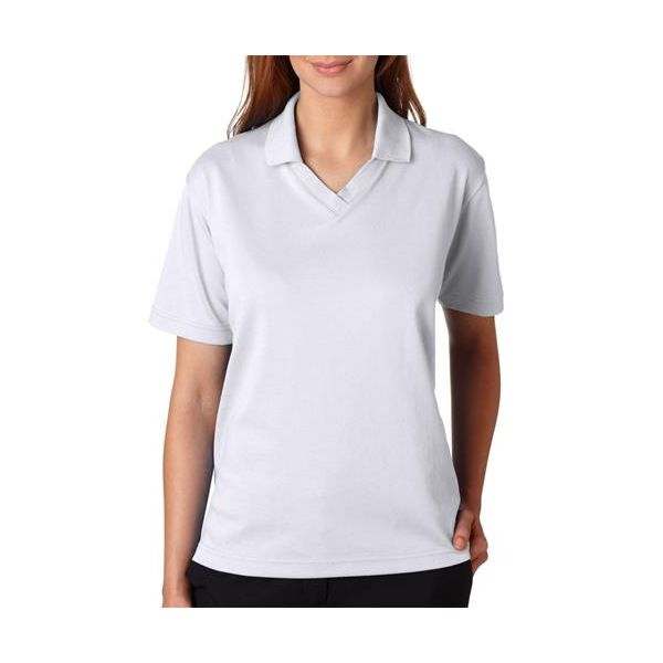 8436 UltraClub® Ladies' Cool & Dry 60/40 Performance Polo  - 8436-White