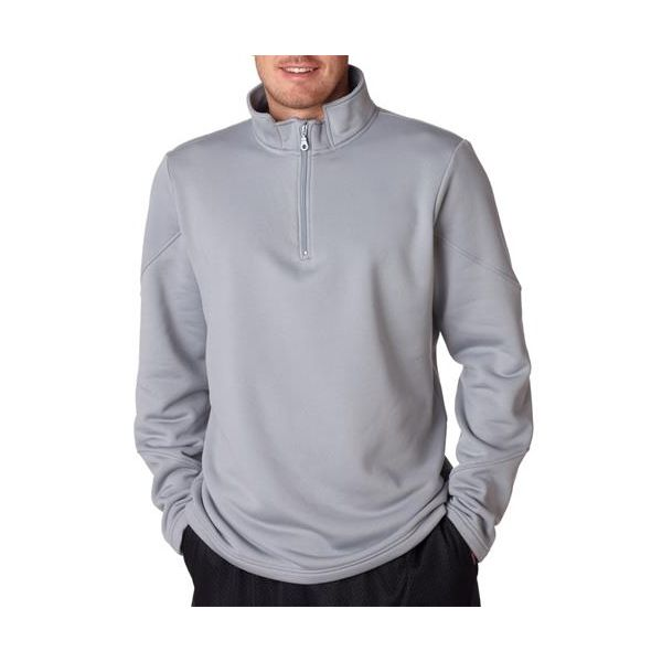 8440 UltraClub® Adult Cool & Dry Elite Sport 1/4-Zip Performance Fleece  - 8440-Steel