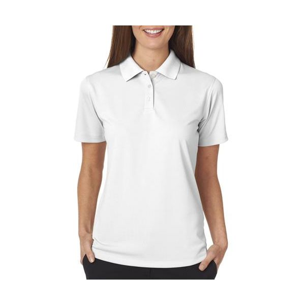 8445L UltraClub® Ladies' Cool & Dry Stain-Release Performance Polo  - 8445L-White