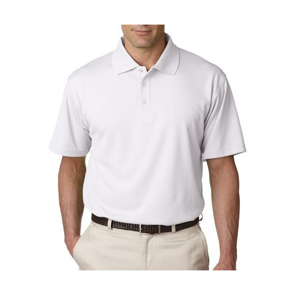 8445 UltraClub® Men's Cool & Dry Stain-Release Performance Polo  - 8445-White