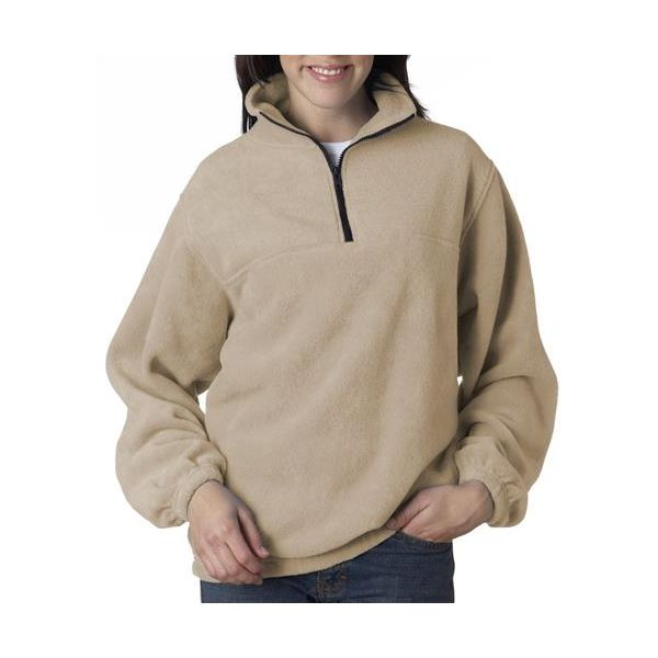 8480 Adult UltraClub® Polyester Iceberg Fleece 1/4-Zip Pullover  - 8480-Khaki