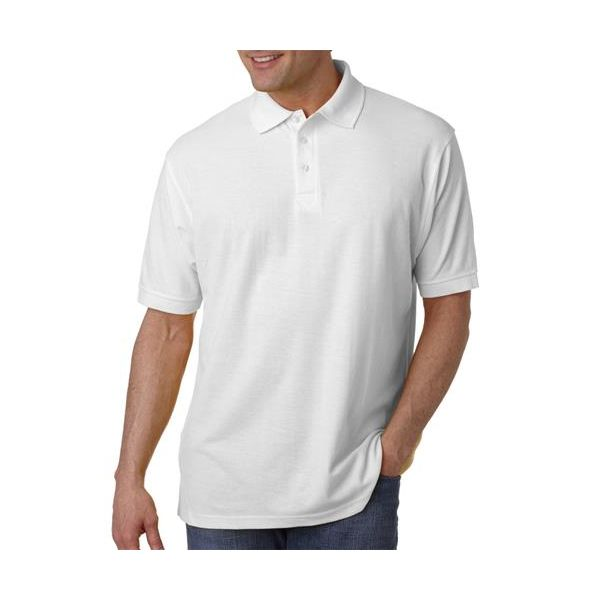 8540 UltraClub® Men's Whisper Pique Blend Polo