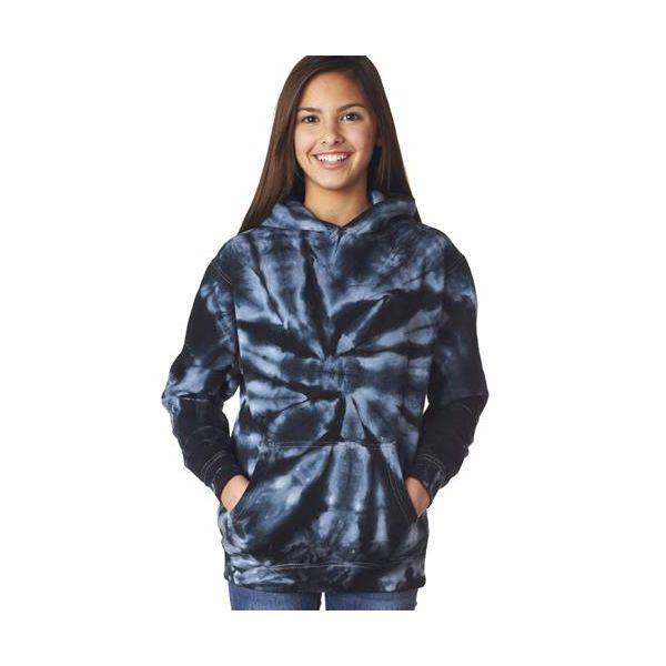 854B Gildan Tie-Dye Youth Pinwheel Hooded Sweatshirt