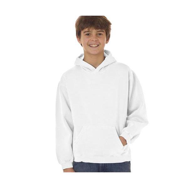 8755 Chouinard Youth Hooded Sweatshirt  - 8755-White DirDye