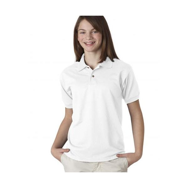 8800B Gildan Youth Gildan DryBlendTM 50/50 Jersey Polo  - 8800B-White