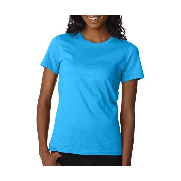 880 Anvil Ladies' Fashion Fit Tee  - 880-Caribbean Blue