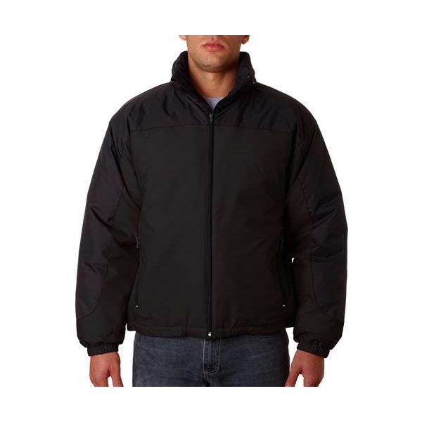 8911 Adult UltraClub® Nylon Adventure Extreme-Weather Jacket  - 8911-Black/ Black