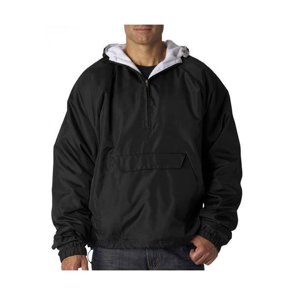 8914 UltraClub® Adult Polyester/Cotton Athletic Pullover  - 8914-Black