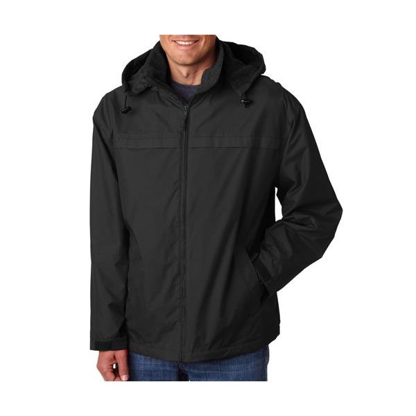 8918 UltraClub® Adult Adventure Squall Jacket  - 8918-Black/ Black