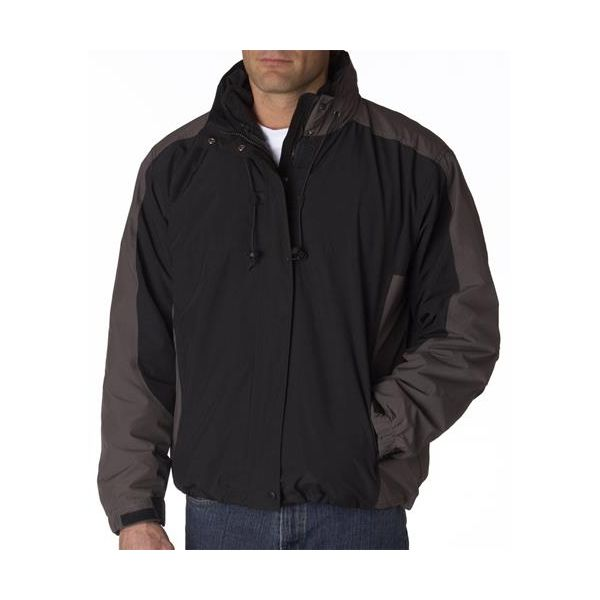 8922 Adult UltraClub® Adventure 3-in-1 Systems Jacket  - 8922-Black/ Charcoal