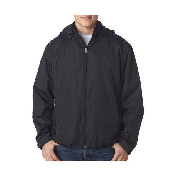 8938 UltraClub® Adult Micro-Poly Fleece-Lined Jacket