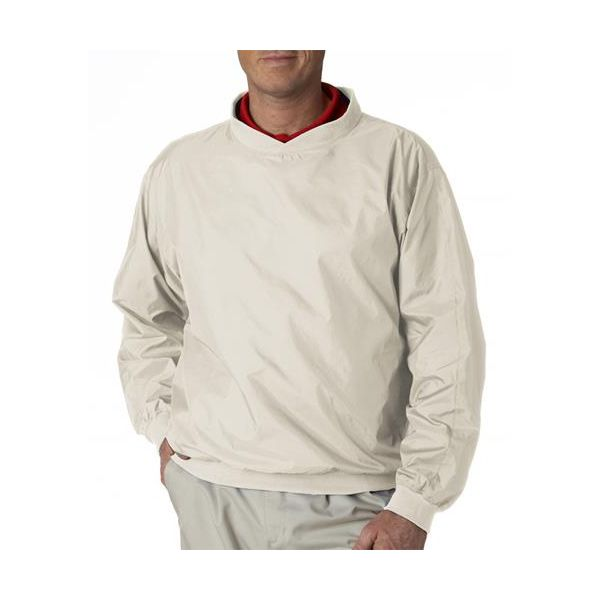 8947 UltraClub® Adult Nylon Pull-Over Windshirt  - 8947-Stone