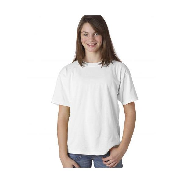 9018 Chouinard Youth Ring-Spun Garment-Dyed Cotton Tee  - 9018-White DirDye