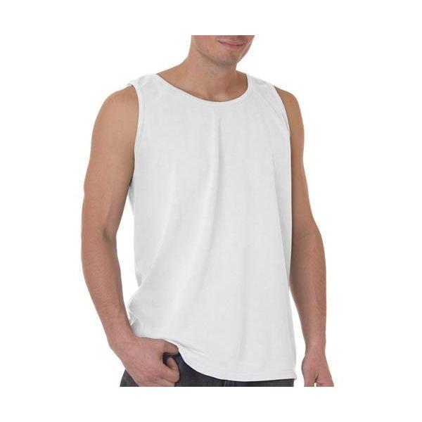 9360 Chouinard Adult Garment-Dyed Tank Top  - 9360-White DirDye