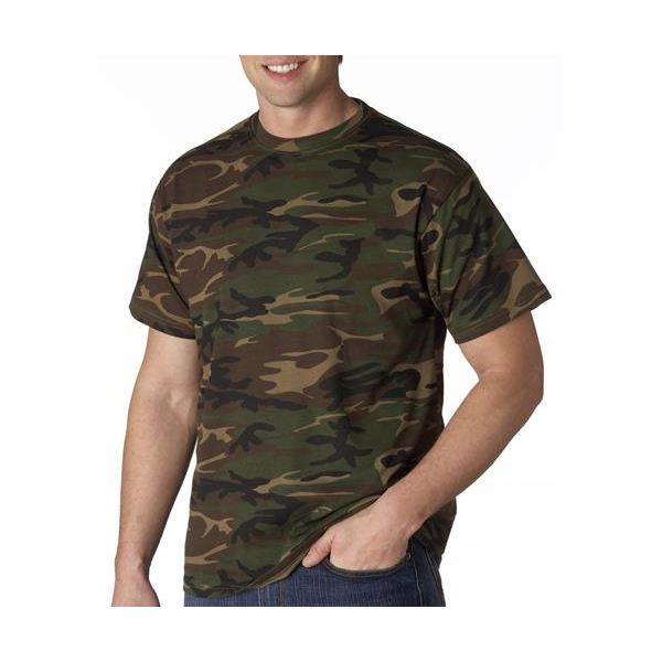 939 Anvil Adult Camouflage Cotton Tee  - 939-Green Camo