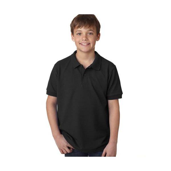 94800B Gildan Youth Gildan 50/50 DryBlendTM Piqué Polo  - 94800B-Black