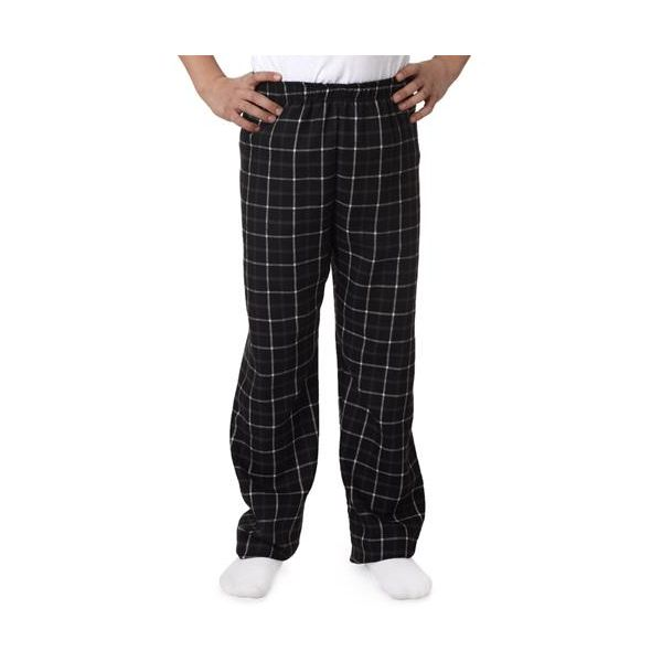 9744 Robinson Youth Gridiron Brushed Poly Flannel Pants  - 9744-Black/Grey