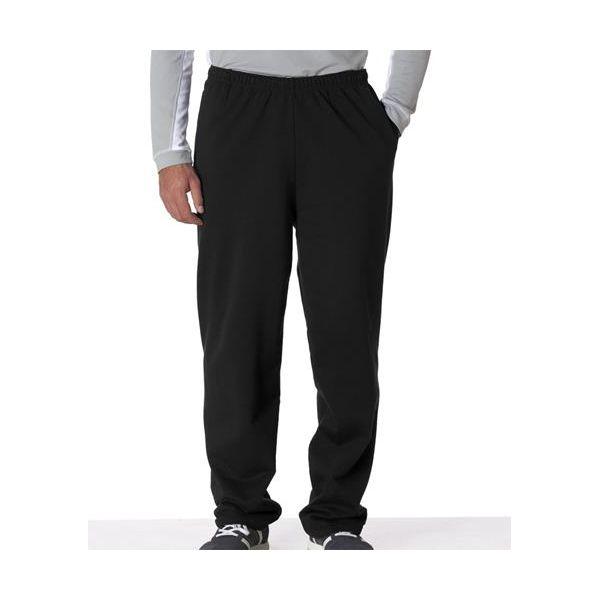 974 Jerzees Adult NuBlend® 50/50 Open-Bottom Sweatpants with Pockets  - 974-Black