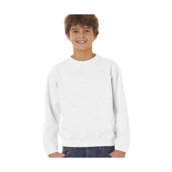 9755 Chouinard Youth Crewneck Sweatshirt  - 9755-White DirDye