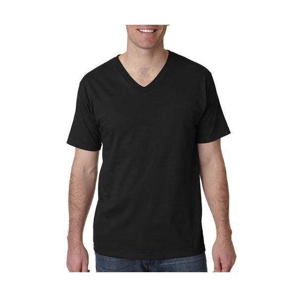982 Anvil Adult Fashion Fit V-Neck Cotton Tee  - 982-Black