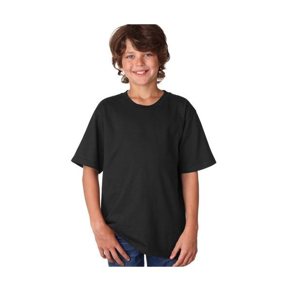 990B Anvil Youth Fashion Fit Cotton Tee  - 990B-Black