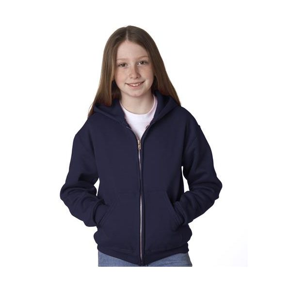 993B Jerzees Youth NuBlend® 50/50 Hooded Full-Zip Sweatshirt  - 993B-J Navy