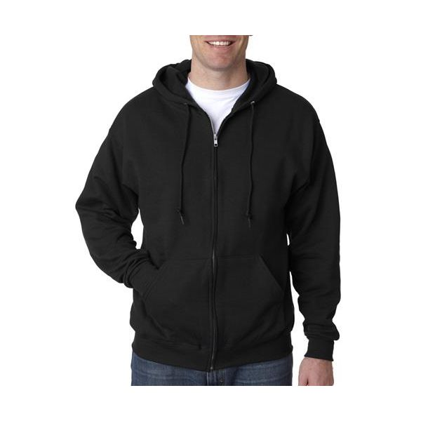 993 Jerzees Adult NuBlend® 50/50 Hooded Full-Zip Sweatshirt  - 993-Black