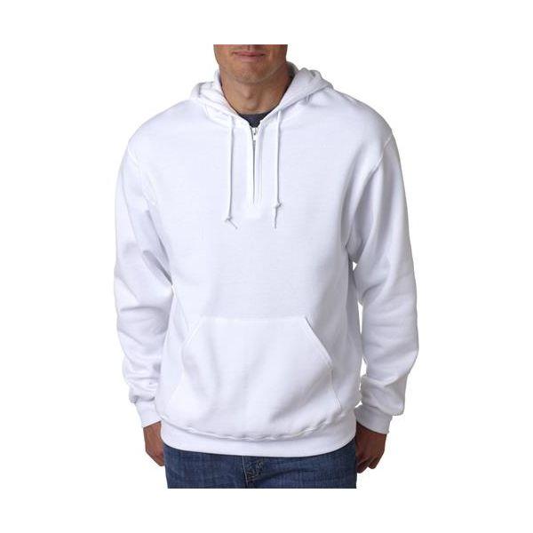 994 Jerzees Adult NuBlend® 50/50 Quarter-Zip Hooded Sweatshirt  - 994-White
