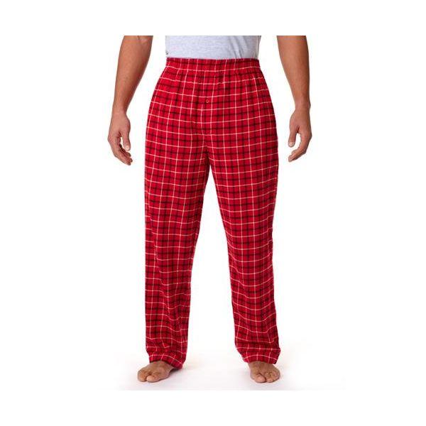 9985 Robinson Adult Gridiron Cotton Flannel Pants  - 9985-Red/Black