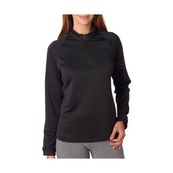 A175 Adidas Ladies' ClimaWarm Half-Zip Training Top  - A175-Black