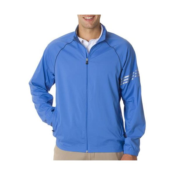 A69 Adidas ClimaProof 3-Stripes Full-Zip Performance Jacket  - A69-True Blue/ Black/ Sterling