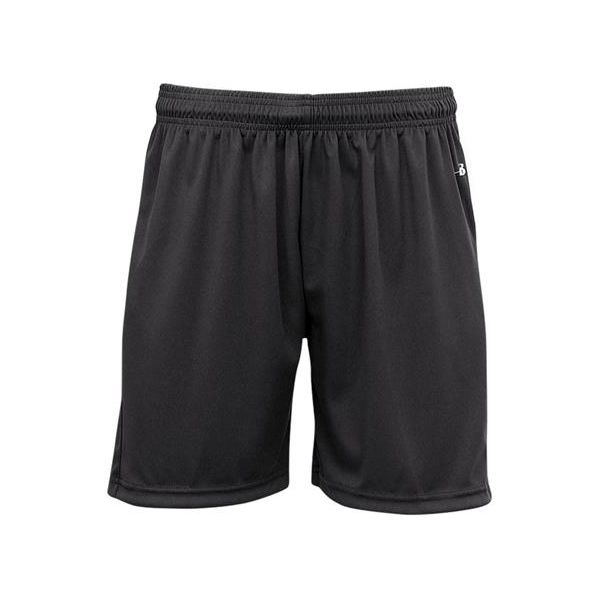 """B2115 Badger """"Ace"""" Girls 5"""" B-Core Athletic Short With Contrast Hip Panels"""