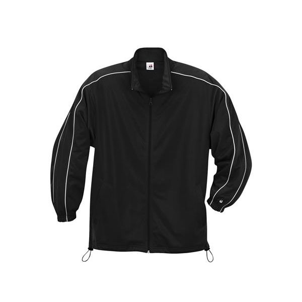 B2701 Badger Youth Razor Jacket  - B2701-Black/ White