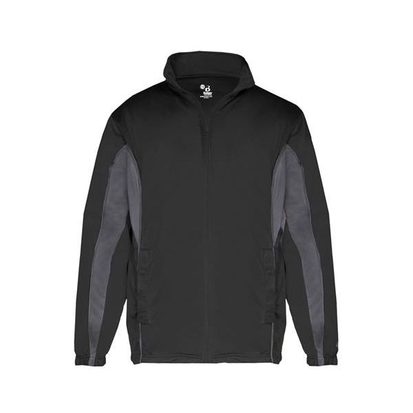 B2703 Badger Drive Youth Jacket  - B2703-Black/ Graphite