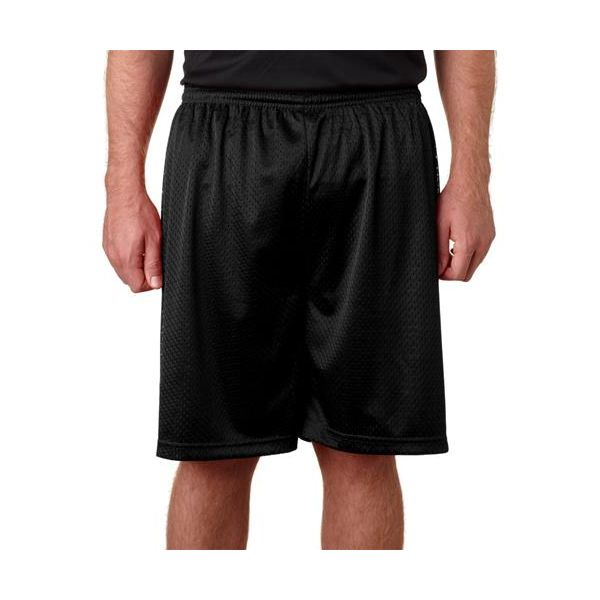 B7207 Badger Adult Poly Mesh/Tricot 7-Inch Shorts  - B7207-Black
