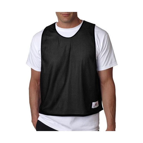 B8560 Badger Adult Lacrosse Reversible Tank  - B8560-Black/ White