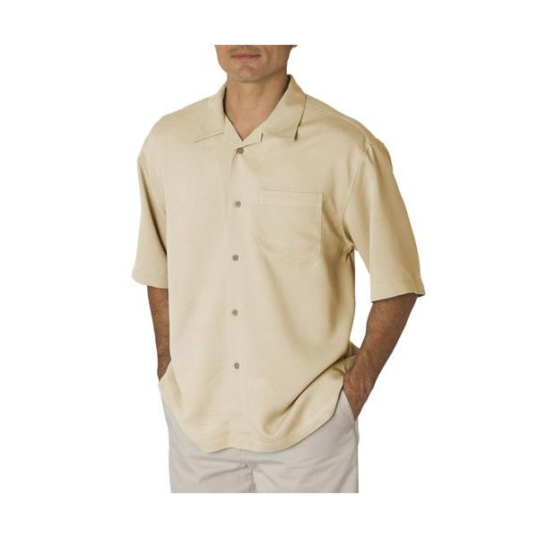 CM111 Cubavera Men's Blended Bedford Cord Camp Shirt  - CM111-Clay
