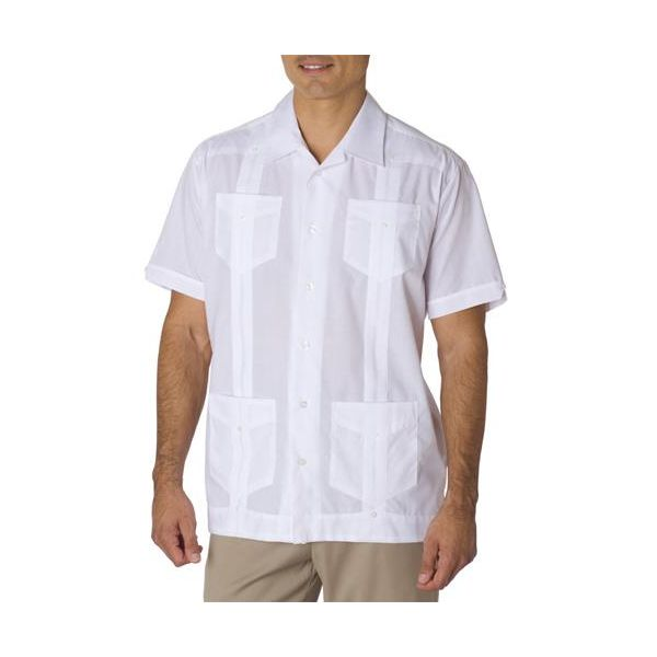 CM176 Cubavera Men's Blended Traditional Guayabera Shirt  - CM176-White
