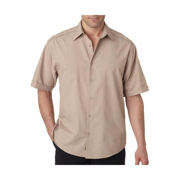 CM602 Cubavera Adult Cotton Sand Dune Camp Shirt  - CM602-Crimini Tan/ Fossil