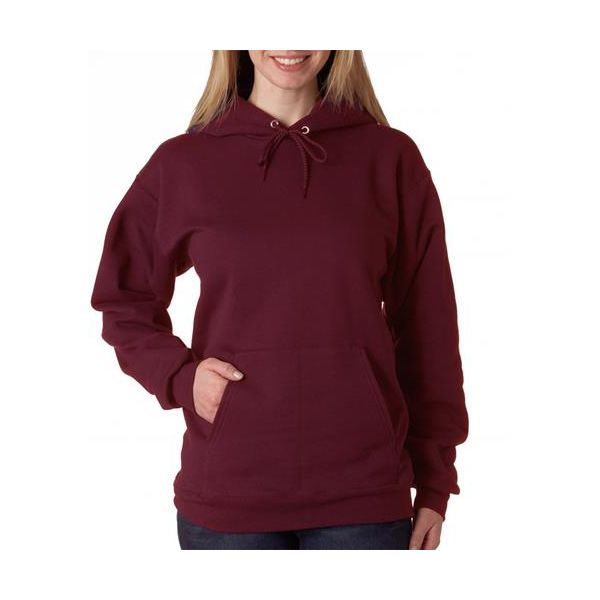 F170 Hanes Adult Ultimate Cotton® Hooded Blended Pullover  - F170-Maroon