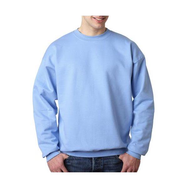 F260 Hanes Adult Ultimate Cotton® Blended Crewneck  - F260-Light Blue